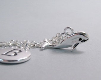 Whale Silver Plated Charm jewelry Supplies