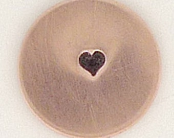 1.5mm Tiny Solid Heart Metal Design Stamp - Metal Jewelry Stamping Tool The Urban Beader