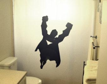 super hero flying man kids Shower Curtain superhero comic bath decor kids bathroom Also Available bedding sheets duvet cover queen king twin