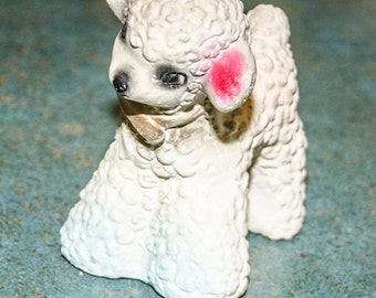 Vintage 1950s Chalkware Lamb 4.5 inches