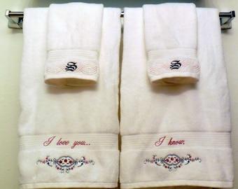 Star Wars Bath Towel Gift Set, Wedding, Monogrammed