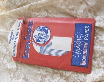 Vintage Kopeefun Magic Paper Extra Sheets - Copy Tracing Paper