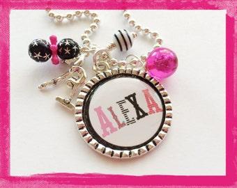 Gymnastics Necklace - Personalized for your Gymnast -  Bezel Charm Jewelry - Sports #B30