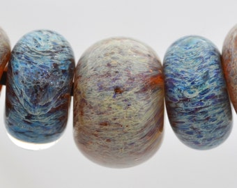 40 % Off Boro Glass Lamprork Glass Beads Opals and Cinnamon