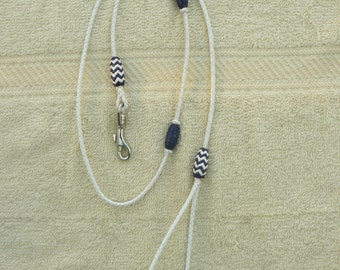 Braided Kangaroo Leather Dog Show Lead with Pineapple Knots - Made To Order