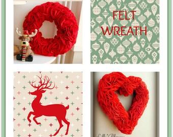 PDF Felt Ruffle Wreath