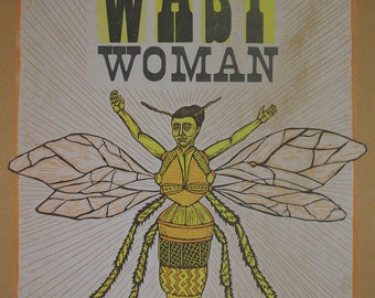 Wasp Woman Letterpress Poster