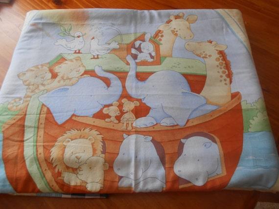 Baby Boy 39 S Noah 39 S Ark Fleece Quilt Cot Quilt By Threerosesboutique