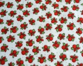 Vintage Fabric - Red and White Cherries Flannel - 37 x 35