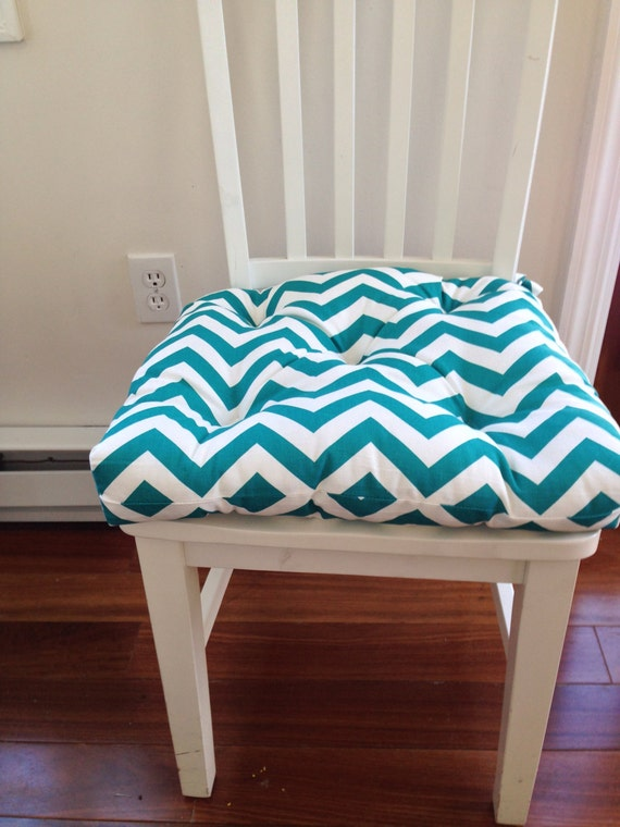 chair pad seat cushion bar stool cushion turquoise blue on white