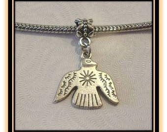Thunderbird Dangle Charm - Fits European Style Bracelets
