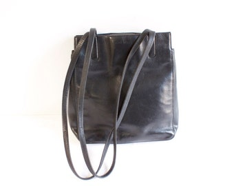 Vintage Black Leather Purse Handbag by Nine West