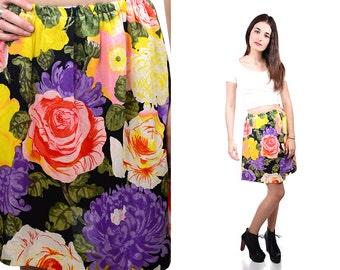 Vintage Renewal 70s Floral skirt SMALL