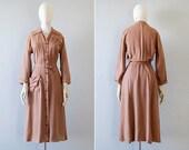 1940s dress / vintage 40s dress / 1940s vintage dress / 40s shirt dress