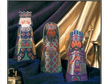 Jeweled Magi Kaspar Balthazar Melchior Perforated Paper 3 Kings Wise Men Christmas Counted Cross Stitch Embroidery Craft Pattern Leaflet 84