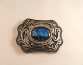 Got the Blues Dichroic Fused Glass Belt Buckle, SB19703Style