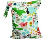 LARGE Wet Bag with Snap Open Handle - Farm Fun - FAST SHIPPING