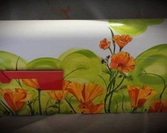 poppies Hand Painted Mailbox California poppy