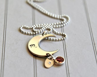 Astrology Necklace Zodiac Sign Birthstone Jewelry Moon Birthdate Necklace