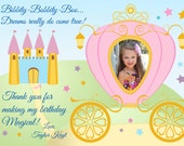 Princess / Cinderella Party Invitation and Thank you card
