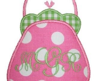 039 Purse Machine Embroidery Applique Design