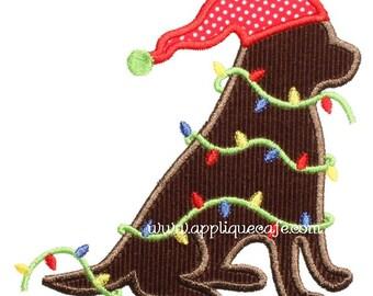 548 Christmas Dog 2 Machine Embroidery Applique Design