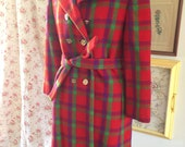 Vintage Plaid Coat 28 Shop Marshall Fields