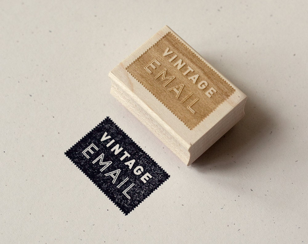 Rubber Stamp Vintage Email By Witandwhistle On Etsy