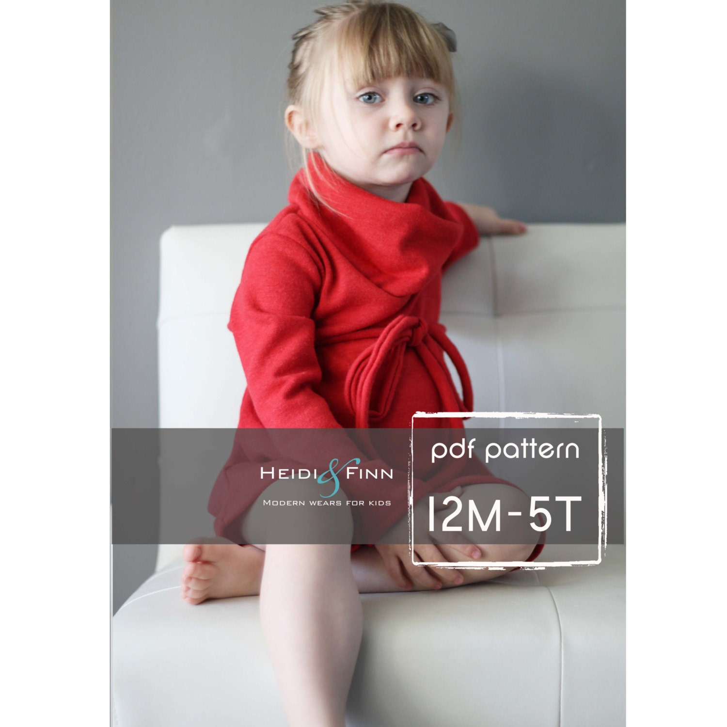 Cowl Neck Jumper Dress and sweater pattern PDF 12m-5T easy