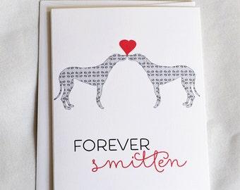 Forever Smitten Anniversary Greeting Card