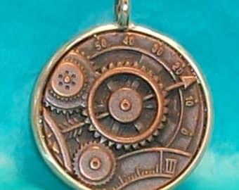 Bronze Gear Pendant (E-832)