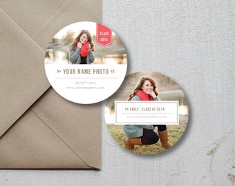Photography Templates - Sticker Templates for Photographers - Label Design - Photography Stickers - Senior Rep Stickers - 3x3 Photo Stickers