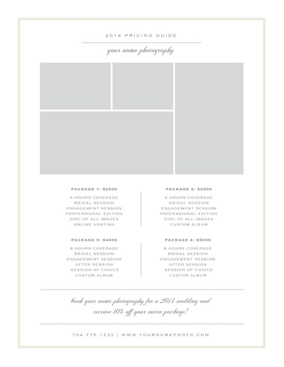 photography price list template pricing sheet guide. Black Bedroom Furniture Sets. Home Design Ideas