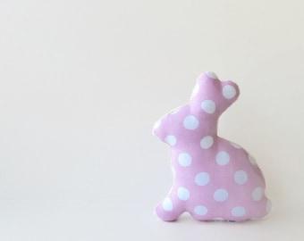 Plush Easter Bunny Stuffed Bunny Baby Toy Polka Dot Pastel Pink