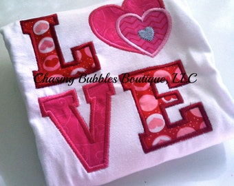 Girls LOVE Valentine's Day Shirt