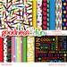 Buy 2, Get 1 FREE - Back To School Digital Papers - Digital Back To School Paper Pack - Instant Download