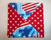 Cloth Coasters -Patriotic Set of 4 FREE SHIPPING
