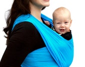 Baby Carrier Wrap Woven Cotton Gauze Maternity Wrap Turquoise BabyEtte - Non-Stretchy - READY TO SHIP