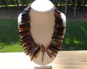 Brown Gemstone Necklace