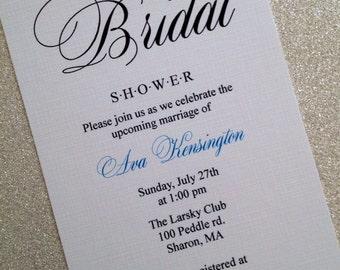 Wedding shower invitation, bridal invitations, anniversary, sweet 16