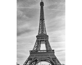 Paris Decor, Black and White, Paris Bedroom Decor, Eiffel Tower Photograph, Eiffel Tower Decor Print, Paris Print, Travel Photography