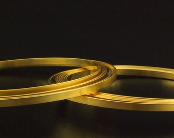 4mm X 1mm Rich Low Brass Wire - Ready for Making Bangles - Made in the USA -100% Guarantee