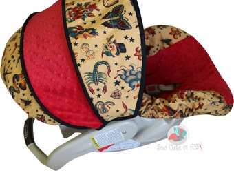 Tattoo Infant Car Seat Cover