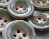 spearmint green spring ceramic buttons