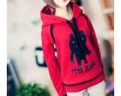 SD13 girl Monster Line Hooded-t - Red