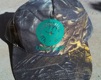 EARTH FIRST Fist Camo Hat