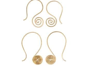 Delicate Spiral Earrings