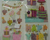 HAPPY BIRTHDAY PATCH Jolee's Boutique 3d Scrapbooking Wholesale stickers-  Banner, Cake, Decor