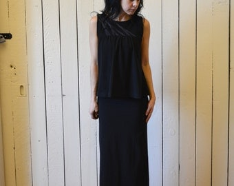 Long Women's Skirt, Cotton Jersey, Midi Skirt, Maxi Skirt, Modern Bohemian Style- made to order