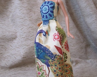 Peacock Dress for Barbie